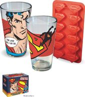 DC Comics - Superman - Glass & Ice Cube Tray