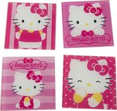 Hello Kitty - 4-Piece Glass Coaster Set