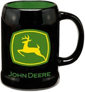 John Deere - 20 oz. Black Ceramic Stein