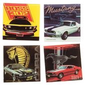 Ford - Mustang - 4-Piece Glass Coaster Set