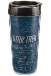 Star Trek - Enterprise: 16 oz. Plastic Travel Mug