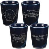 Star Trek - 4 Piece Ceramic Shot Glass Set