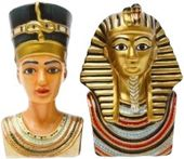 King Tut & Queen Nefertiti - Magnetic Ceramic