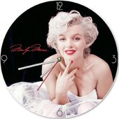 "Marilyn Monroe - 13.5"" Cordless Wood Wall Clock"