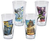 Doctor Who - 4-Piece 16 oz. Glass Set