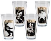 Elvis Presley - 4-Piece 16 oz. Glass Set