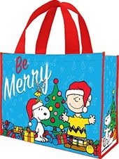 "Peanuts - ""Be Merry"" Large Gift Tote"