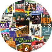 "The Beatles - Album Collage 13.5"" Wood Wall Clock"