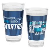 Star Trek - Laser Decal Pint Glass 2-pack