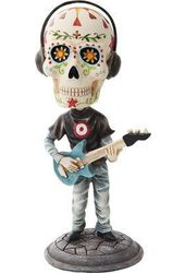 Day of The Dead Electric Bass Player Bobblehead