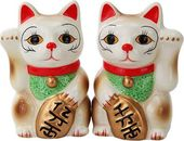 Japanese Maneki Neko - Magnetized Ceramic Salt &