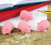 Bacon - Set of 4 Scented Pig Erasers