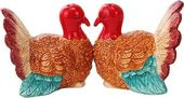 Kissing Turkeys Magnetic Ceramic Salt & Pepper