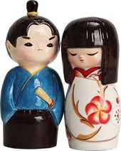 Kokeshi And Samurai Salt & Pepper Shaker
