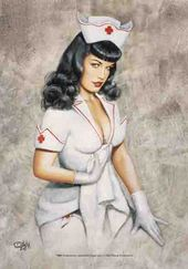 Bettie Page - Nurse Bettie: Flag / Poster / Scarf