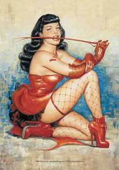 Bettie Page - Red Whip: Flag / Poster / Scarf