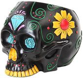 Day of the Dead Skull - Black Canister