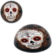 Day of the Dead Skull - Glass Paperweight