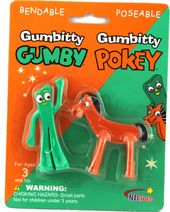 "Gumby - Gumbitty ""Gumby & Pokey"" Mini Bendables"