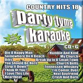 Party Tyme Karaoke: Country Hits, Volume 18