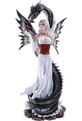Fairy With White Dragon - Large Figure