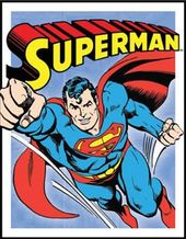 DC Comics - Superman - Retro Panel - Metal Sign