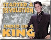 Elvis Presley - Revolution - Tin Sign