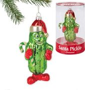 Santa Pickle Ornament