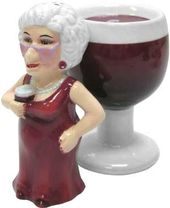 Biddy and Wine Salt & Pepper Shakers