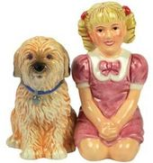 Brady Bunch - Cindy & Tiger Salt & Pepper Shakers