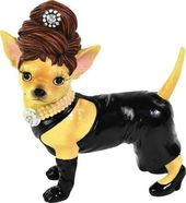 Aye Chihuahua - Black Dress - Figurine