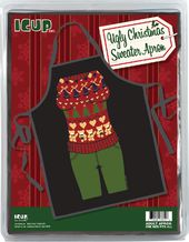 Ugly Sweater (Bears & Hearts) - Apron