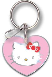 Hello Kitty - Face In Heart - Keychain