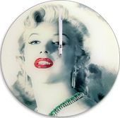 Marilyn Monroe - Cool Green Jewel Wall Clock