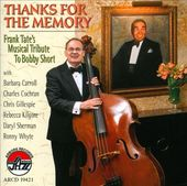 Thanks For The Memory: Frank Tate's Musical
