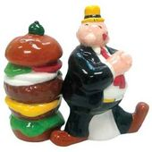 Popeye - Whimpy & Hamburger: Salt & Pepper Shakers