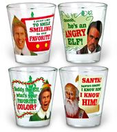 Elf the Movie - Sayings Shot Glass 4-pack