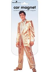 Elvis Presley - Car Magnet Gold Suit