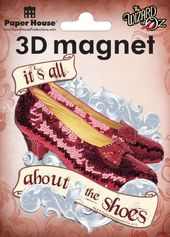Wizard of Oz - 3D Ruby Slippers - Magnet