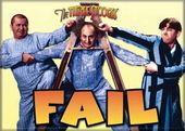 "The Three Stooges - Fail Photo Magnet 2 1/2"" x 3"