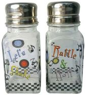 Rock 'n' Roll: Lets Shake - Glass Salt & Pepper