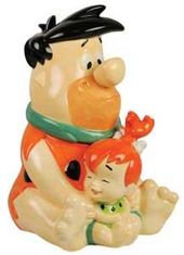 The Flintstones - Fred & Pebbles Cookie Jar
