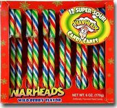 Warheads - Box of 12 Candy Canes