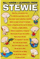 Family Guy - Stewie - All I Know - Poster