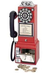 1950's Classic Pay Phone (Red)