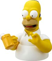 The Simpsons - Homer with Beer Mug Bust Bank
