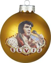Elvis Presley - Glass Ornament Las Vegas