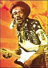 "Jimi Hendrix - Firebirds - Photo Magnet 2 1/2"" x"