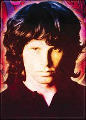 "Jim Morrison - Swirls - Photo Magnet 2 1/2"" x 3"