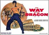 Bruce Lee - Way of the Dragon White Photo Magnet